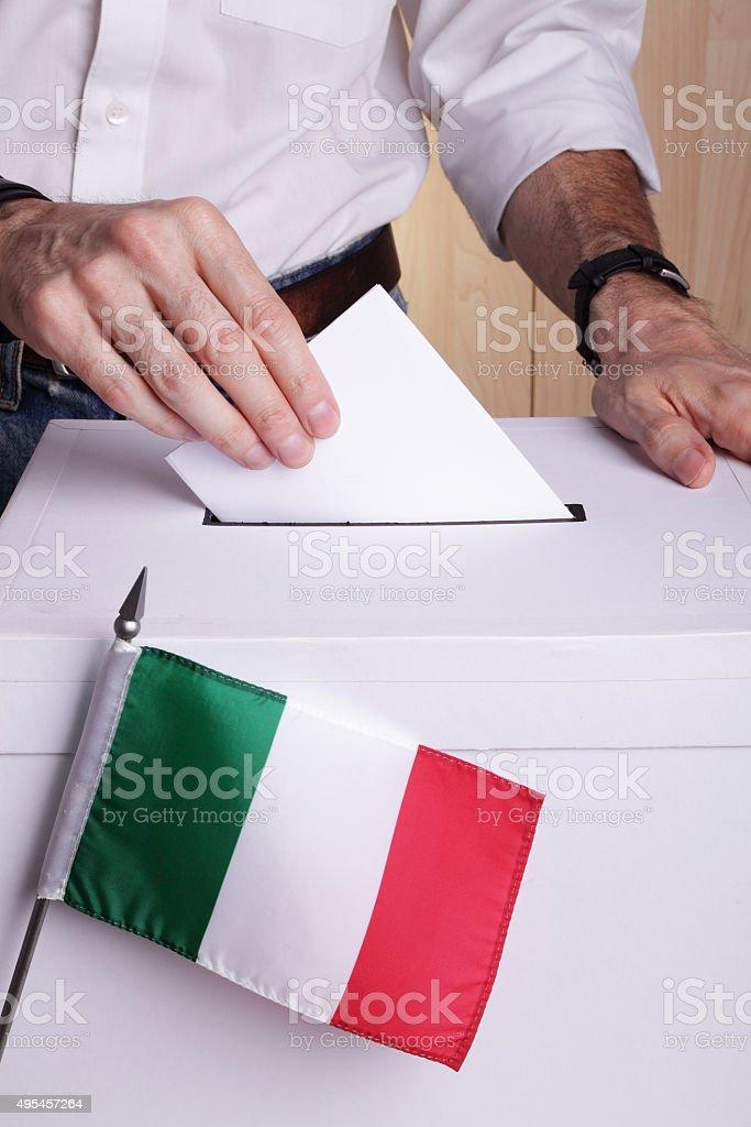Italians to vote stock photo