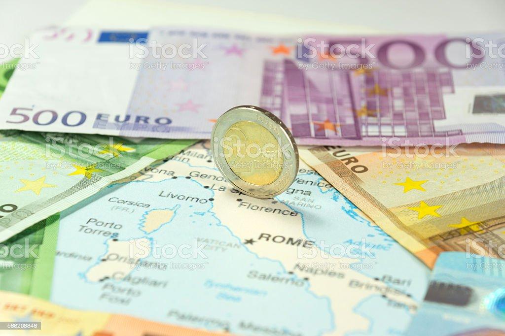 Italien und Euro stock photo