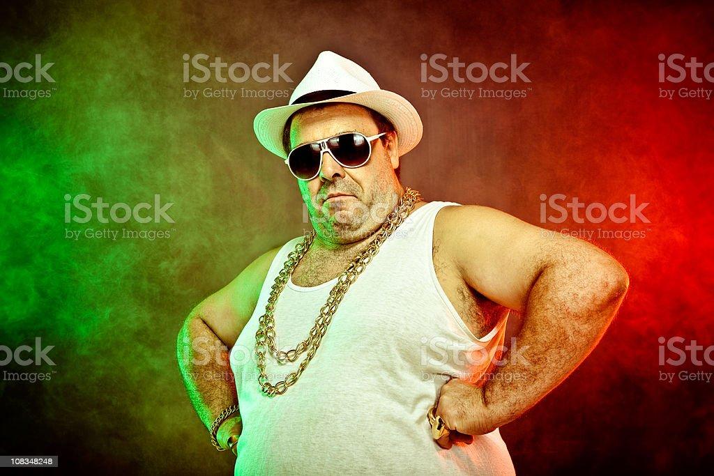 italo-american boss rapper royalty-free stock photo