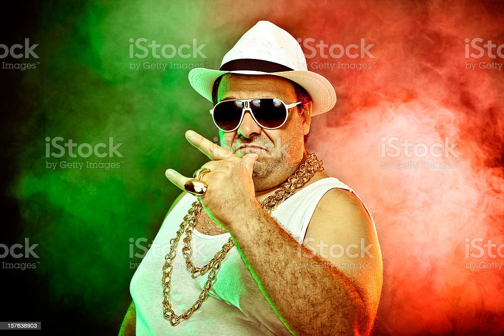 italo-american boss rapper stock photo