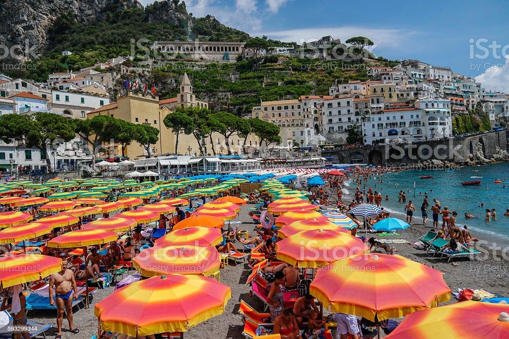 Italy: Amafli Coast beach stock photo