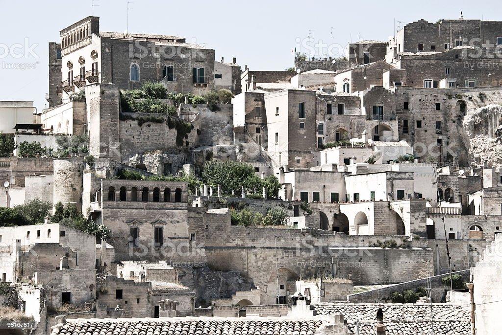 Italy, Basilicata, Matera - The ancient town stock photo