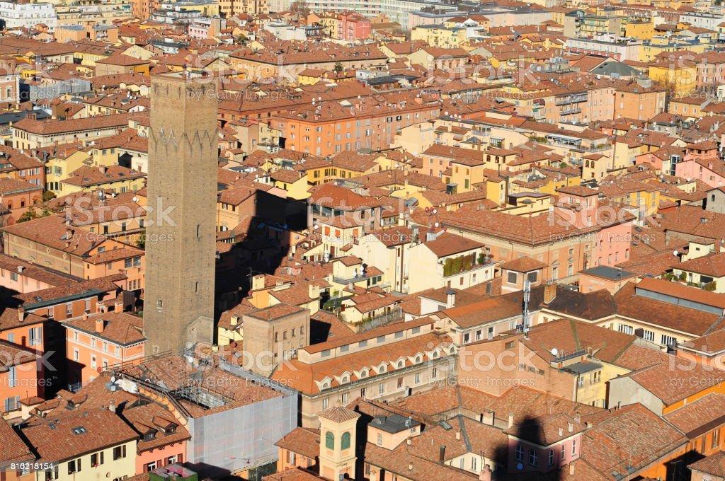Italy, Bologna cityscape view. stock photo