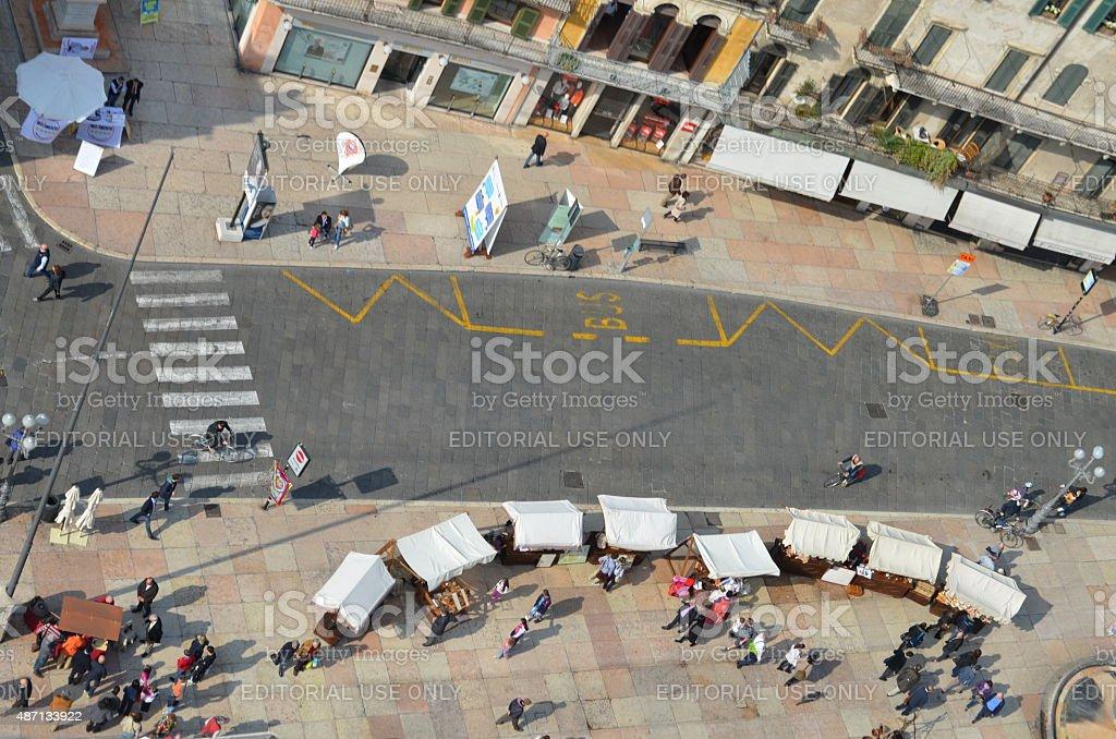Italy, Bologna main square stock photo