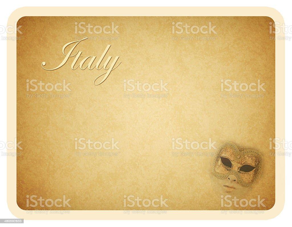 Italy Card royalty-free stock photo