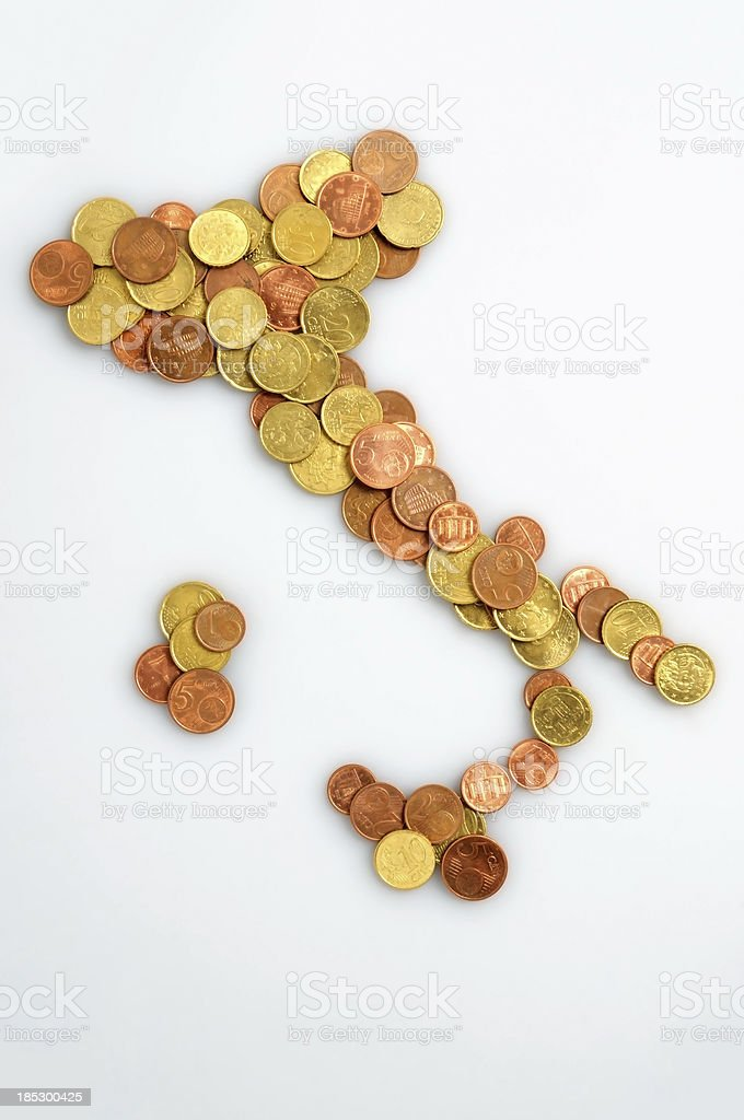 Italy coins stock photo
