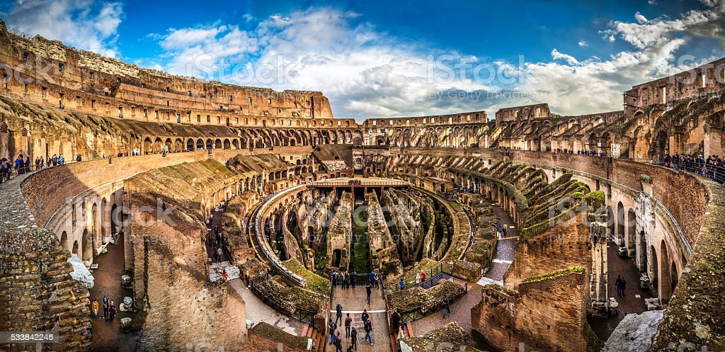 Italy Coliseum architecture stock photo