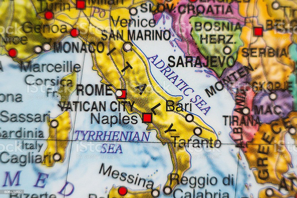 Italy country map . stock photo
