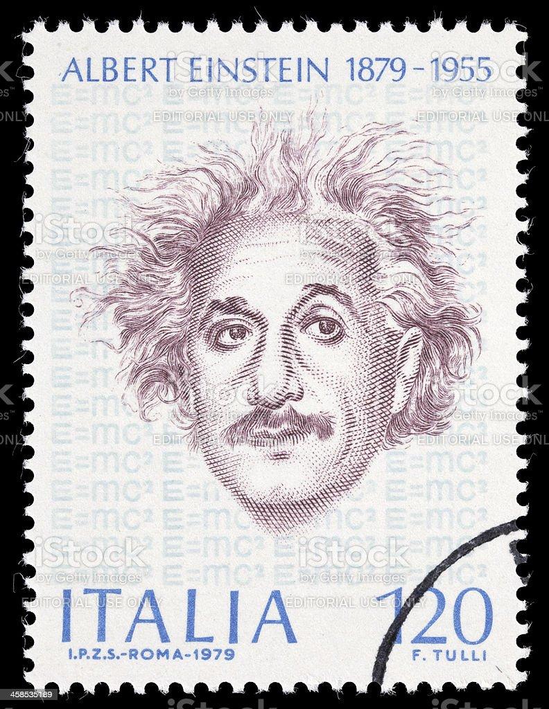 Italy Einstein postage stamp stock photo