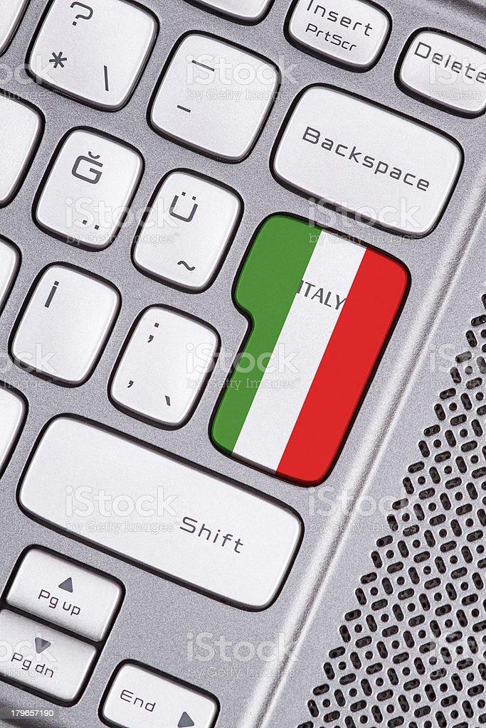 Italy flag button royalty-free stock photo