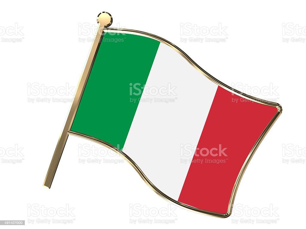 Italy flag insignia stock photo