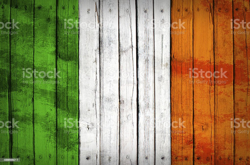 Italy flag painted on wooden boards royalty-free stock photo