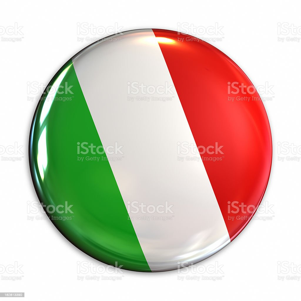 Italy flag pin royalty-free stock photo