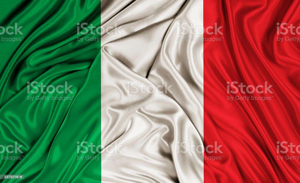 Italy flag - silk texture stock photo