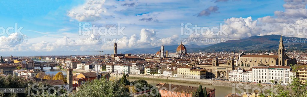 Italy. Florence. Panoramic view from Piazzale Michelangelo. stock photo