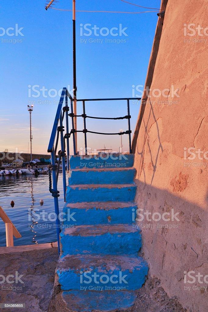 Italy. Gallipoli's harbor stock photo
