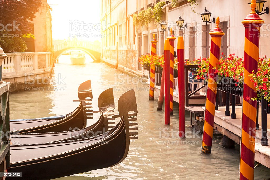 Italy, Gondola in Venice stock photo