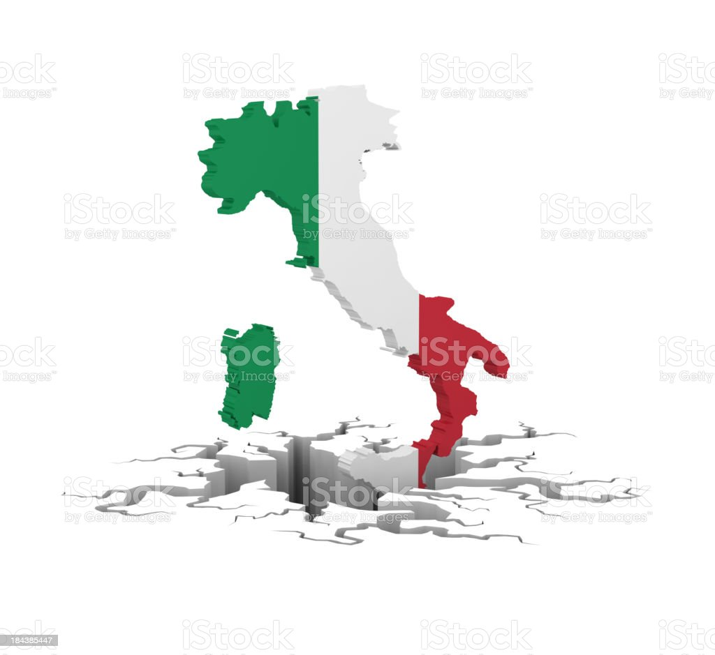 italy in recesion royalty-free stock photo