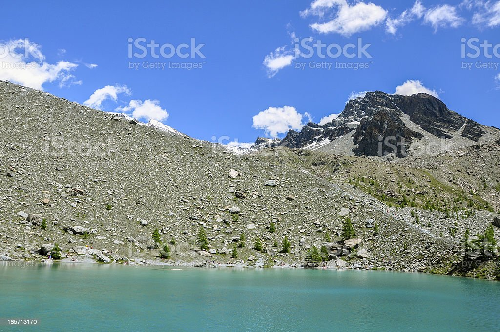 Italy (Ayas Valley) Lago Blu royalty-free stock photo