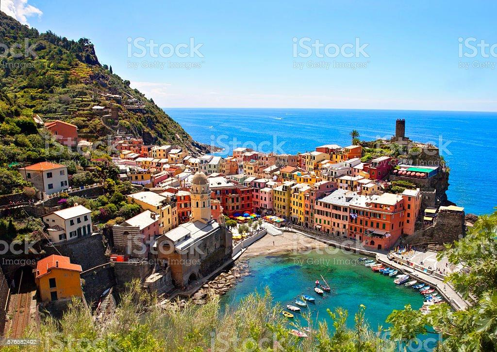 Italy Landscapes -Tuscany -Vernazza- Cinque Terre stock photo