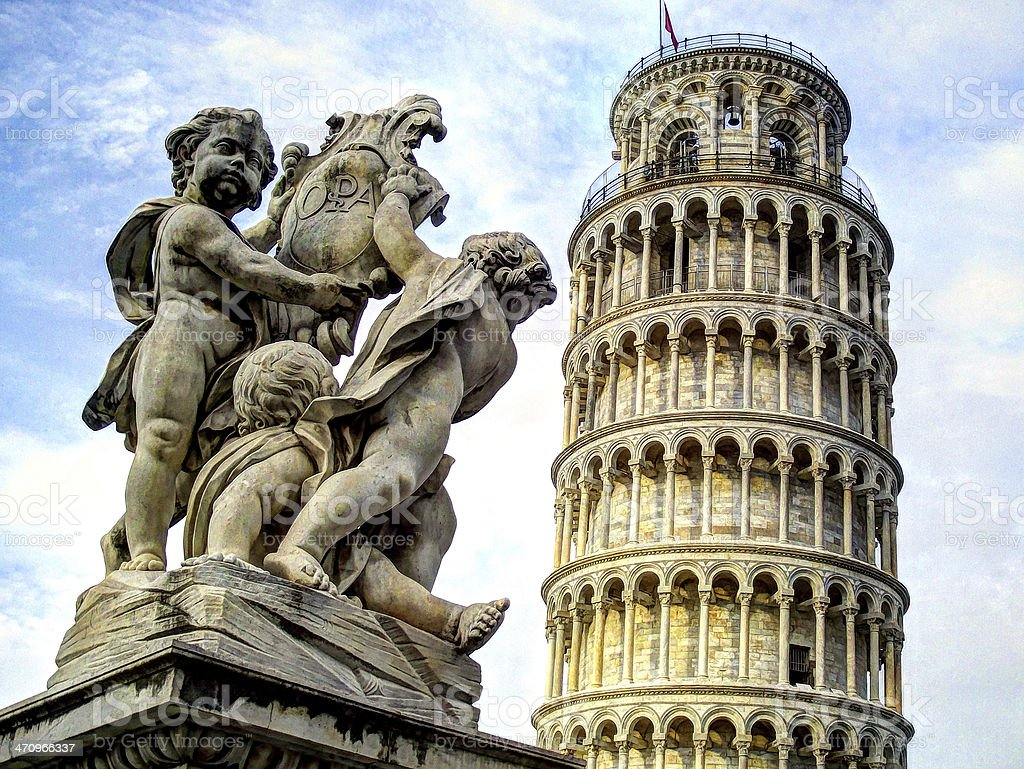 Italy, Leaning tower of Pisa stock photo