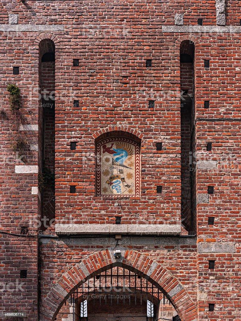 Italy. Milan. Sforza Castle (Castello Sforzesco) stock photo