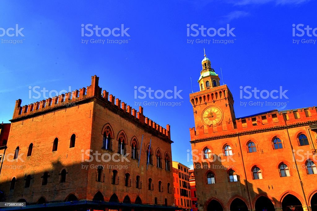 Italy. Old town of Bologna stock photo