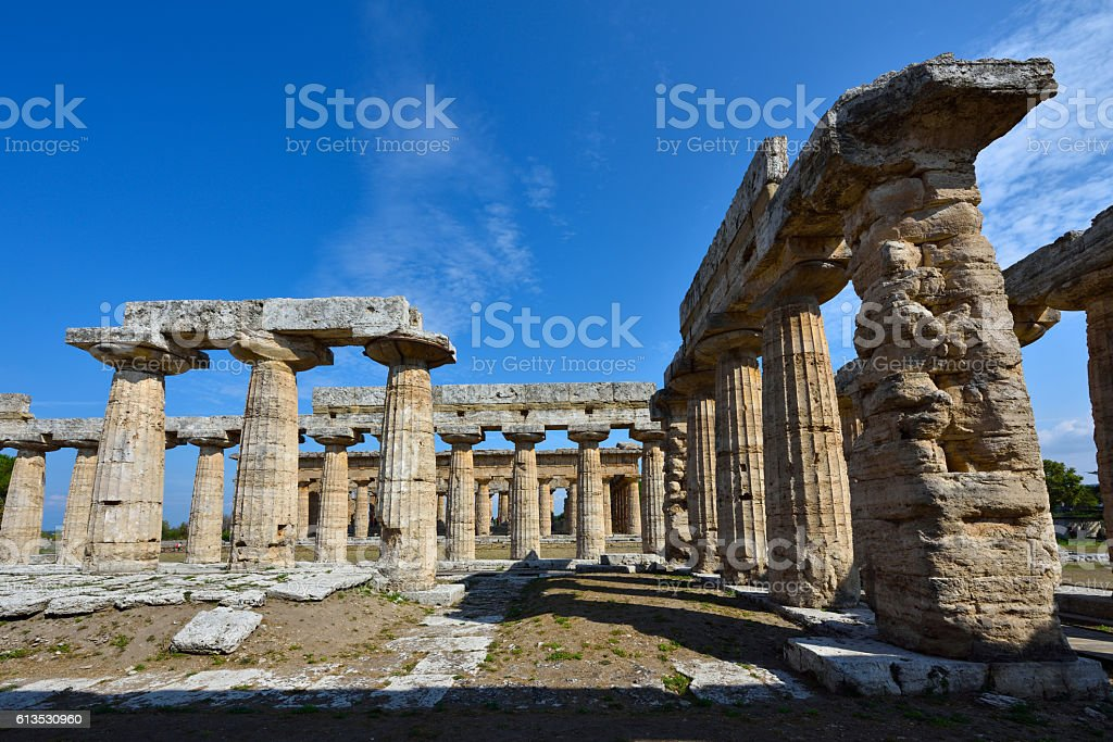 Italy, Paestum stock photo