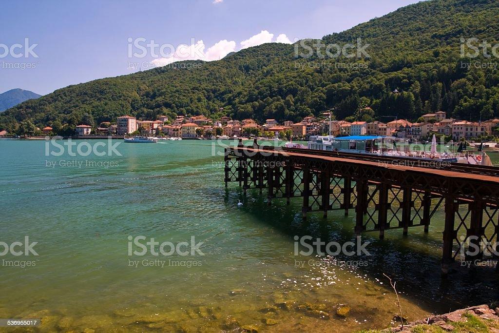 Italy - Porto Ceresio and Ceresio Lake stock photo