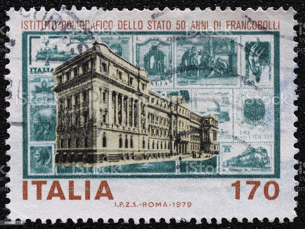 Italy postage stamp royalty-free stock photo