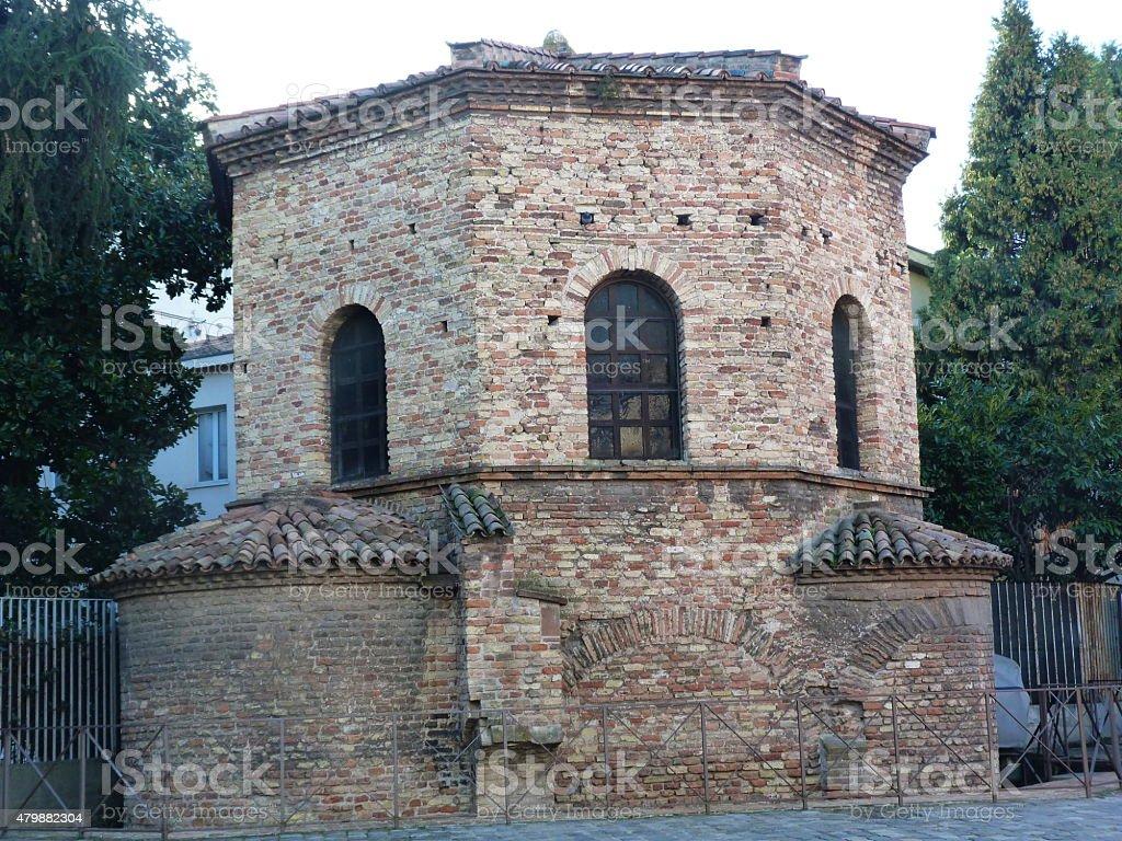 Italy, Ravenna, Baptistery of the Arians stock photo