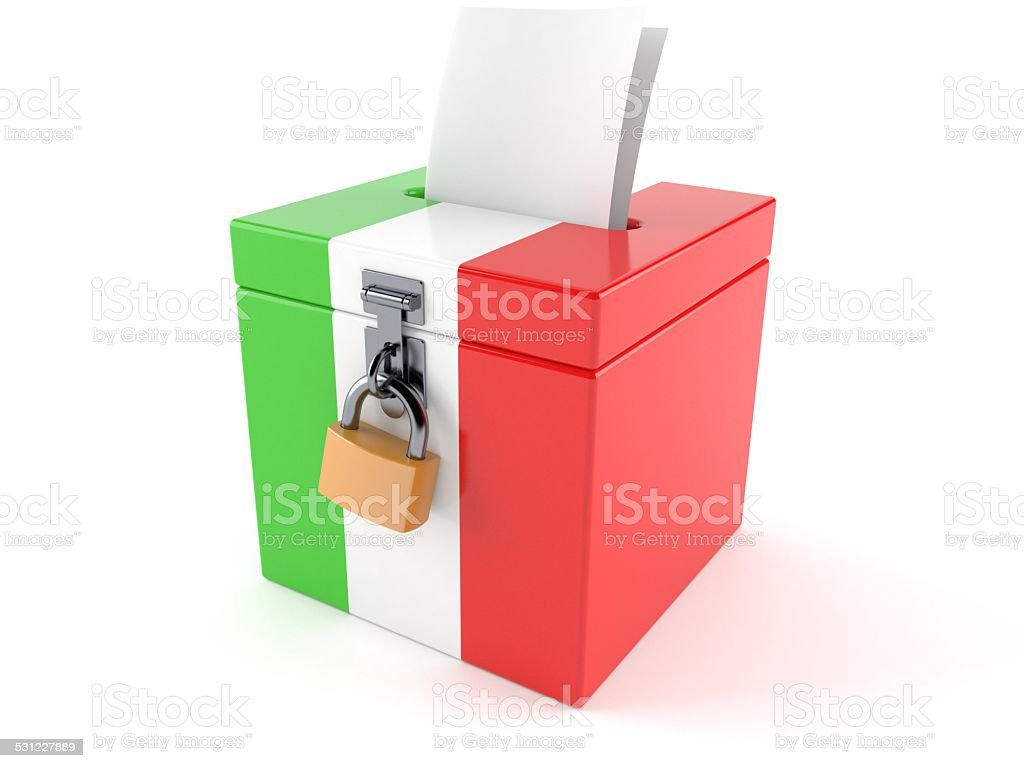 Italy referendum stock photo