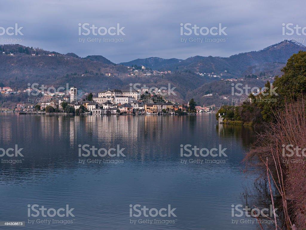 Italy. Region of Piedmont. Lake Orta stock photo
