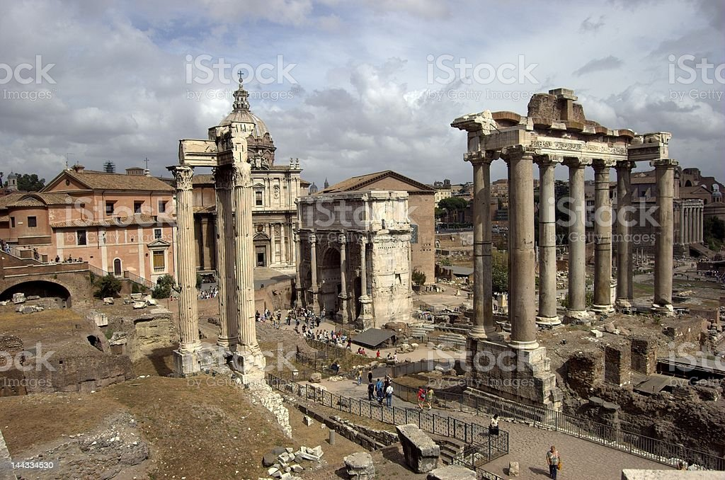 Italy, Rome, Forum Romanum stock photo