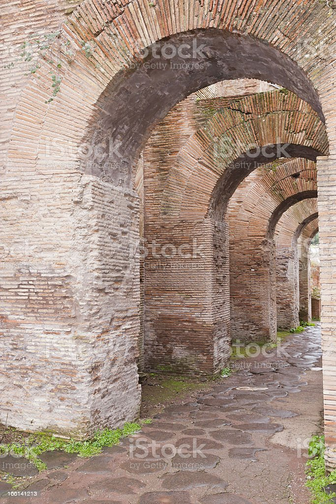 Italy. Rome. In the Roman Forum royalty-free stock photo