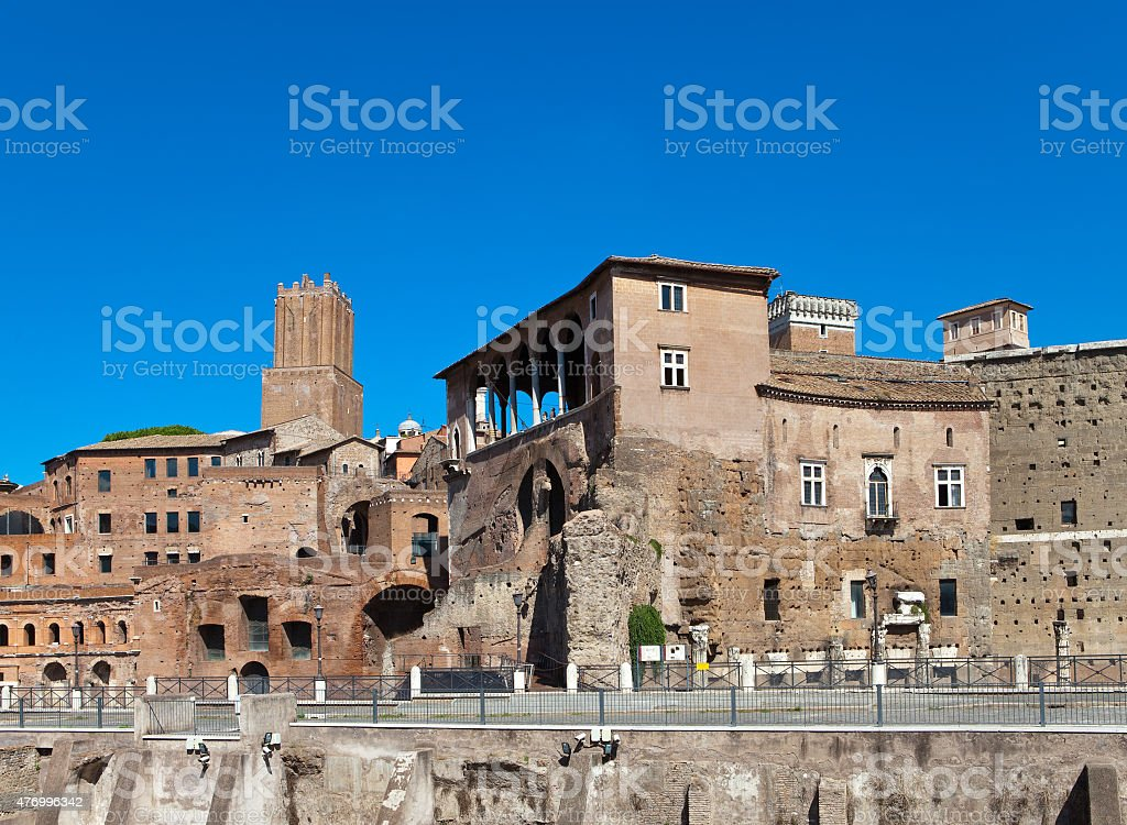 Italy. Rome. Ruins of a forum  Trajan stock photo
