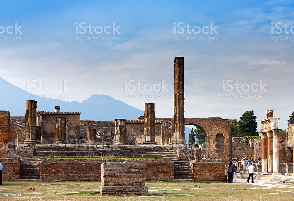 Italy. Ruins of Pompey. stock photo