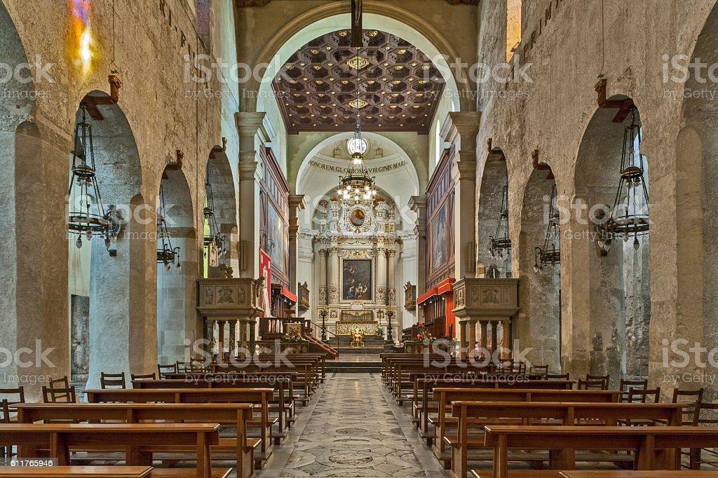 Italy, Siracusa, interno del Duomo stock photo