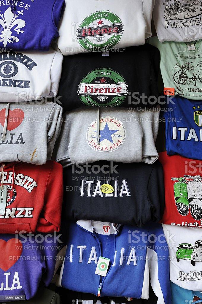 Italy Souvenir T-Shirts stock photo