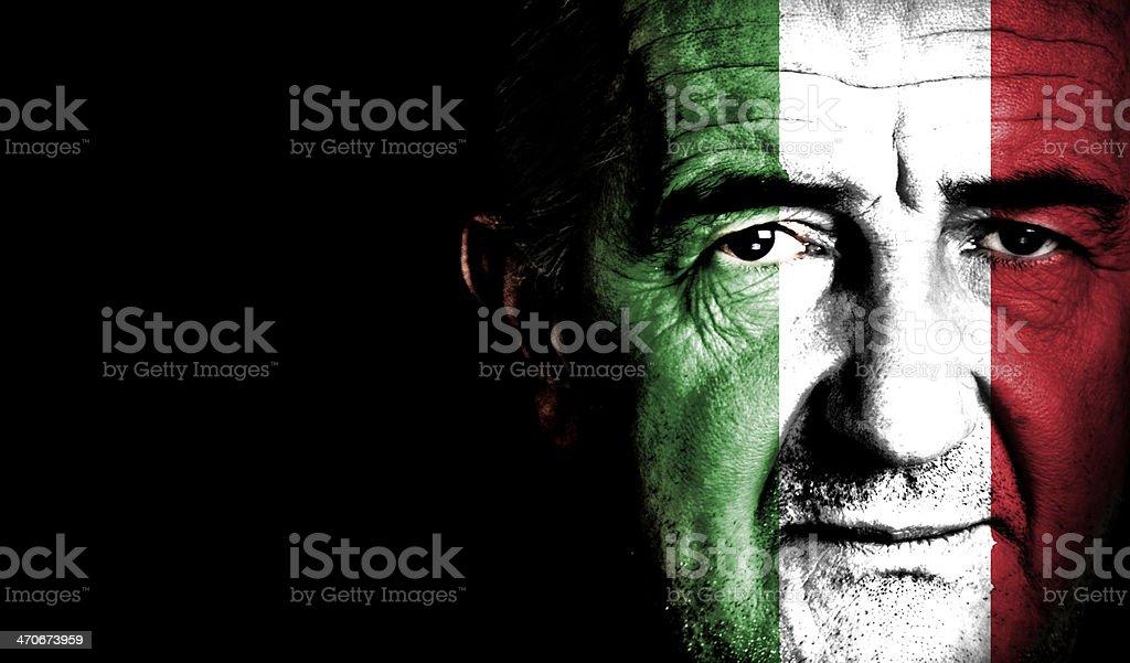Italy Sport Soccer Fan royalty-free stock photo