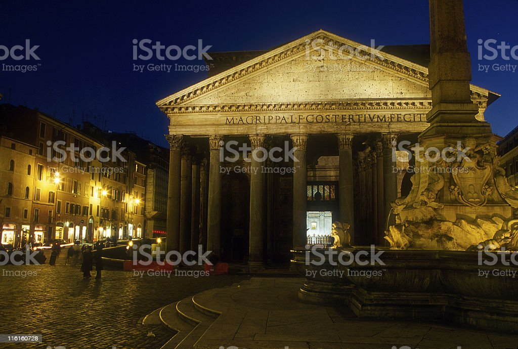 Italy. The Pantheon of Rome royalty-free stock photo