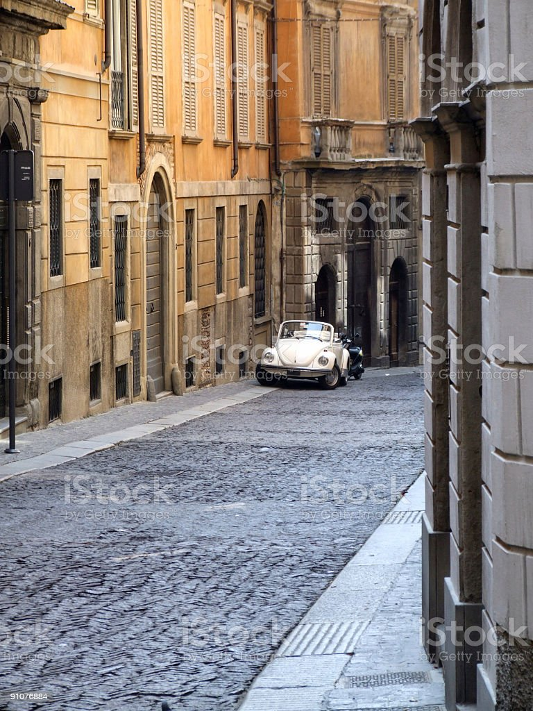 Italy travel - old town street royalty-free stock photo