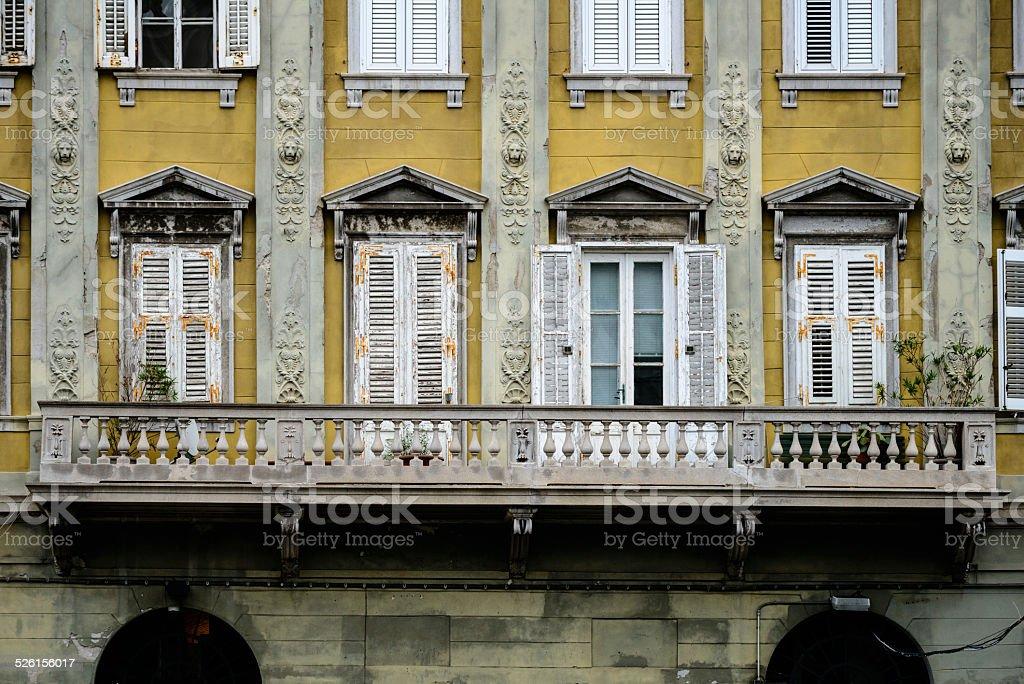 Italy, Trieste Windows stock photo