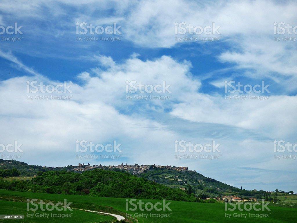 Italy, Tuscany, Montalcino,  the Tuscan countryside stock photo