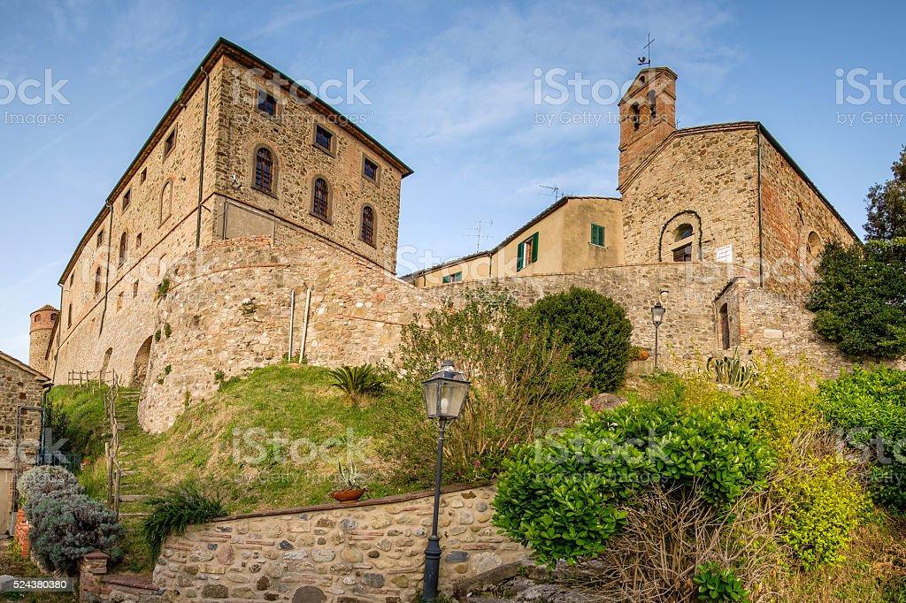 Italy, Tuscany, Montegemoli, San Bartolomeo Church stock photo