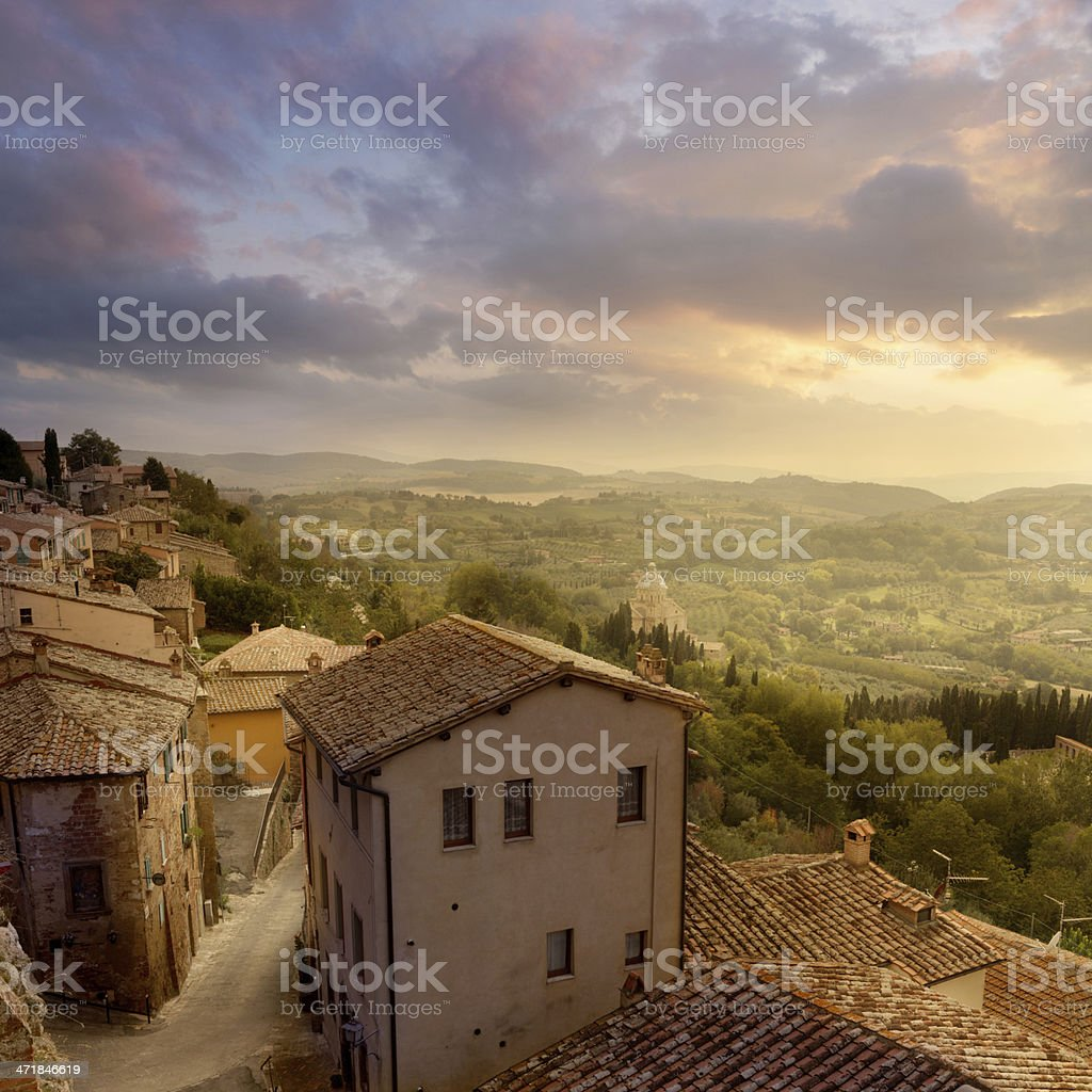Italy: Tuscany - Montepulciano royalty-free stock photo