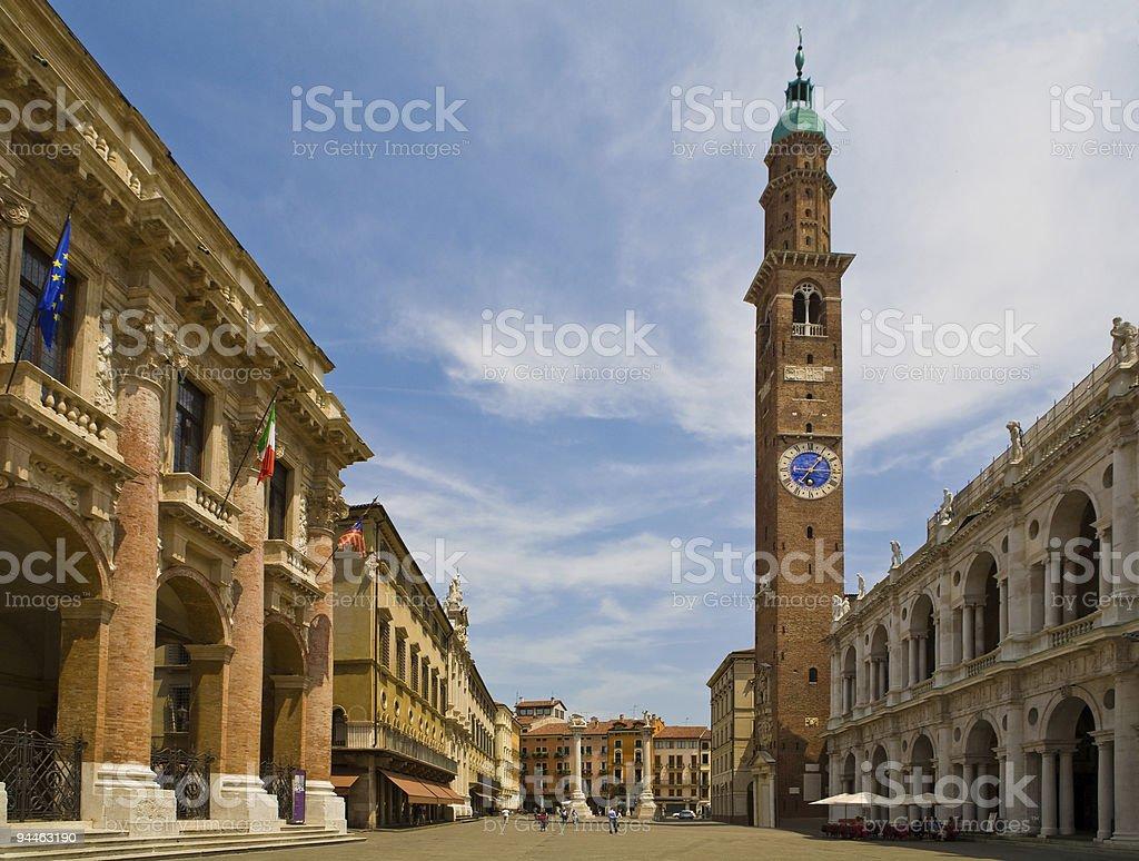 Italy, vicenza, piazza royalty-free stock photo