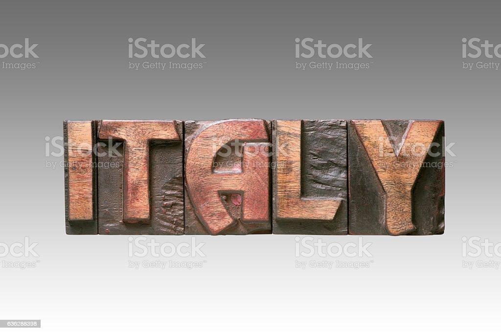 Italy vintage type stock photo
