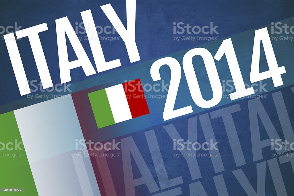 Italy written on abstract background stock photo