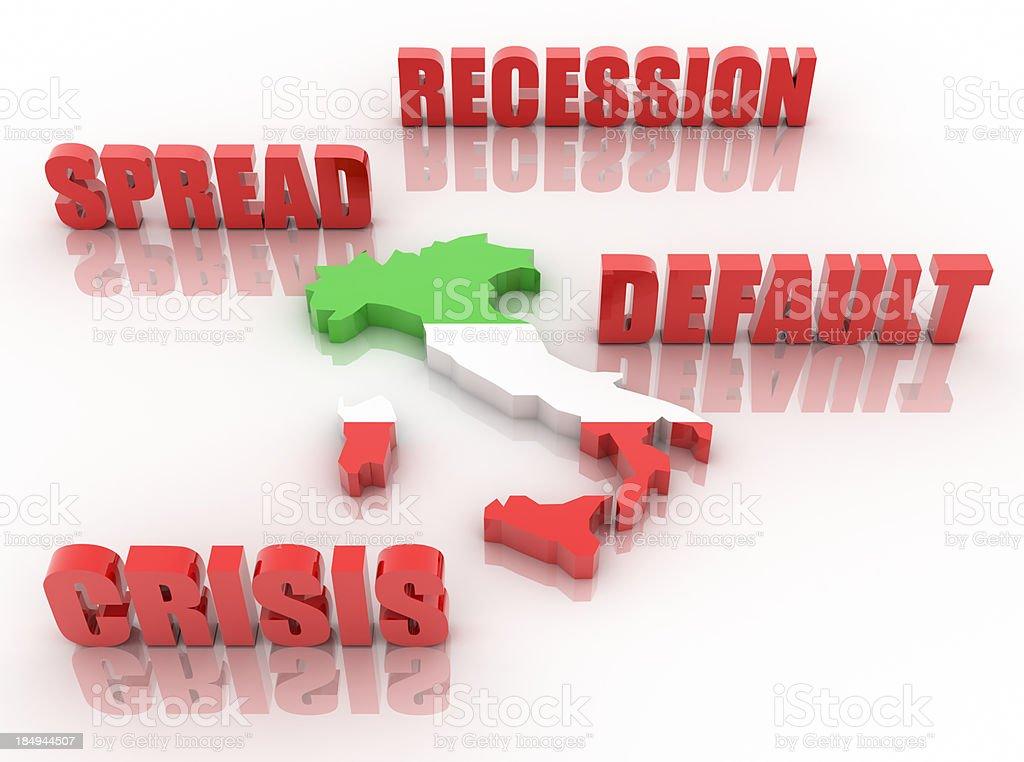 Italy's crisis stock photo